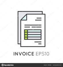 Illustration Invoice Template Invoice Paper Bill Stock Vector Bub0bub0 140506652