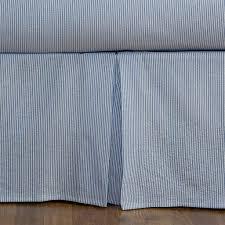White Bed Skirt Queen Seersucker Bedskirt Blue And White Stripe Queen Daniel Dry Goods