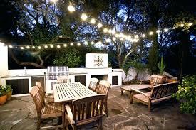 deck string lighting ideas how to hang backyard string lights patio lights back yard image