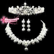 crystal choker necklace wedding images Fashion crown tiara imitation pearls silver plated crystal choker jpg