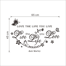 bob marley home decor u0026 bob marley room wall sticker love the life you live diy poster