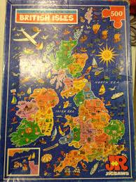 Map Of British Isles Picture Map Puzzle Of The British Isles Retrospect Nerd