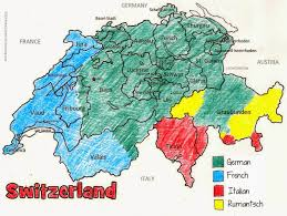 Swiss Map Switzerland Map Languages