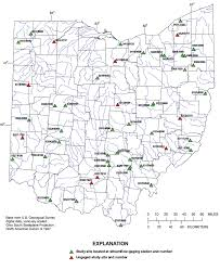 Map Of Sandusky Ohio by Bankfull Characteristics Of Ohio Streams And Their Relation To