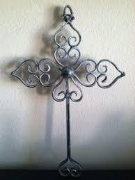 29 h decorative metal wall cross scroll design scroll design