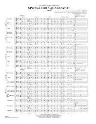 lavender spongebob squarepants flex band sheet music complete