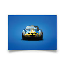 Blue Ferrari 250 Gto Poster Colors Of Speed Automobilist