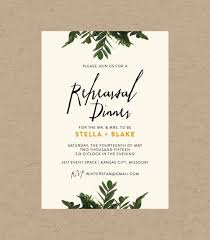 rehearsal dinner invite botanical rehearsal dinner invitation 10 5x7 printed sets