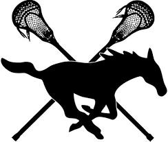 mustang middle middle creek mustang logo mustang logos lacrosse