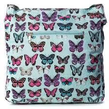 big handbag shop womens designer canvas fabric butterfly aztec