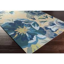 Yellow And Blue Outdoor Rug Blue Floral Rug Home Design Ideas And Pictures