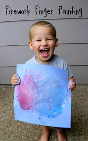 easy firework finger painting for toddlers and preschool kids