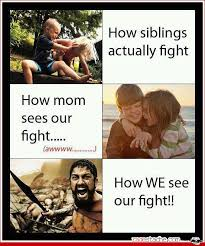 Funny Sibling Memes - hahaha yeahhhh it s sweet when mamas there but when she leave fists