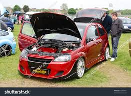opel corsa bakkie modified peterborough england may 24 red vauxhall stock photo 73764409