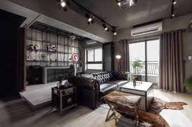 fabulous apartment design decorated by industrial feel and modern
