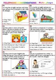 english teaching worksheets telephone conversation
