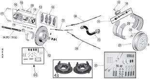 jeep grand zj rear brake parts 93 98 quadratec