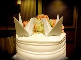 Origami Wedding Cake - ceramic origami cranes cake topper shared by tin
