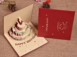 homeycozy handmade 3d pop up greeting card for birthday