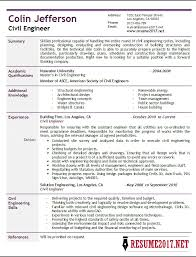 civil engineer resume 2017 samples u2022
