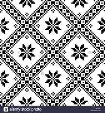 ukraine pattern vector seamless ukrainian or belarusian folk art embroidery black pattern