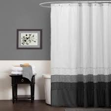 Black White Shower Curtain Black And White Fabric Shower Curtain Foter