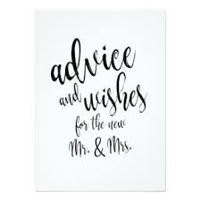 wedding advice cards zazzle