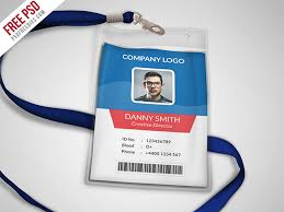 multipurpose company id card free psd template by psd freebies