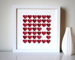 anniversary present anniversary gift personalized 3d hearts made with