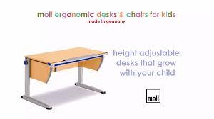 Kids Adjustable Desk by Ergokidz Moll Ergonomic Kids Desks U0026 Ergonomic Kids Chairs Youtube