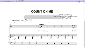 Bruno Mars Count On Me With Lyrics Count On Me By Bruno Mars Piano Sheet Teaser