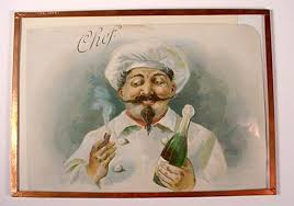 ms dow antiques tique talk by marianne dow vintage chef kitchen antique chef stone lithograph cigar box label