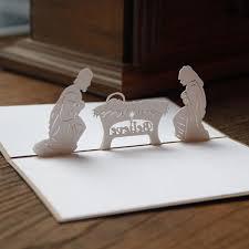 handmade kirigami origami 3d pop up nativity of jesus greeting