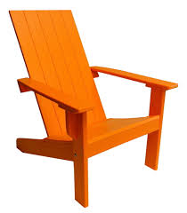 Colored Adirondack Chairs Modern Adirondack Chair With Square Back Made From Poly Cottage