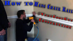 chair rail molding best way for professional installation youtube