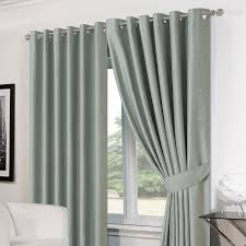 Duck Egg Blue Blackout Curtains Basket Weave Pair Thermal Curtains Ready Made Eyelet Pencil Pleat