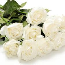 bouquet de fleurs roses blanches rose blanche artificiel achat vente rose blanche artificiel