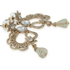 diamond studded buy online pankh antique golden diamond studded earrings from usa