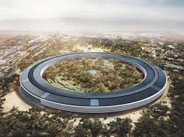 apple spaceship campus 2 photos show office building taking shape