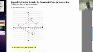 perimeter and area in the coordinate plane youtube