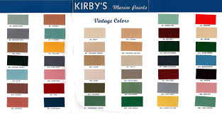kirby u0027s vintage color chart george kirby jr paint company