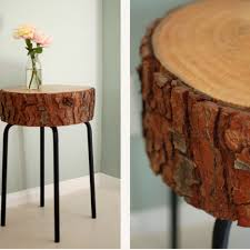 How To Make A Wood Stump End Table by 13 Creative Diy Table Designs For All Styles And Tastes Tree
