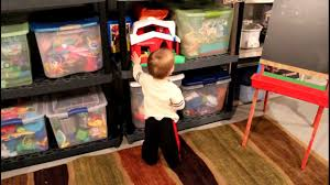 toy storage ideas basement storage before and after youtube