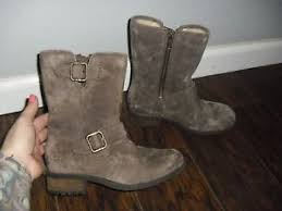 s ugg australia chaney boots ugg australia chaney gray suede boots 1006042 s sz 6 rtl