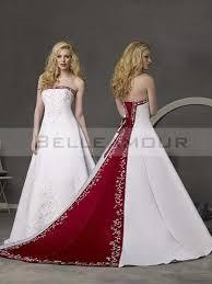 robe de mari e bicolore de mariée classique blanche bustier broderie longue