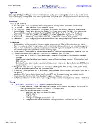 Sqa Resume Sample by Resume Agile Qa Tester Rutgers Online Mba Resume Room Service
