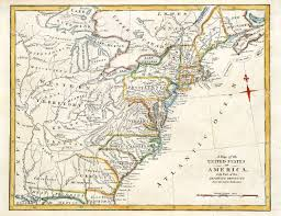 Map Of New England Colonies by Early Map Of Colonial America Printed In England In 1795 Stock
