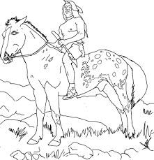 indian horse coloring sheets indian horse coloring pages or