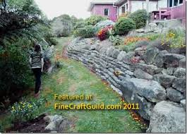 how to build a self retaining garden wall gardens and retaining