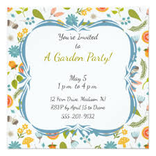 party invitation garden party invitations announcements zazzle co uk